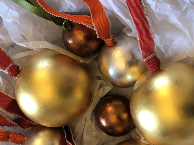Limited Edition Water Gilded Christmas Baubles